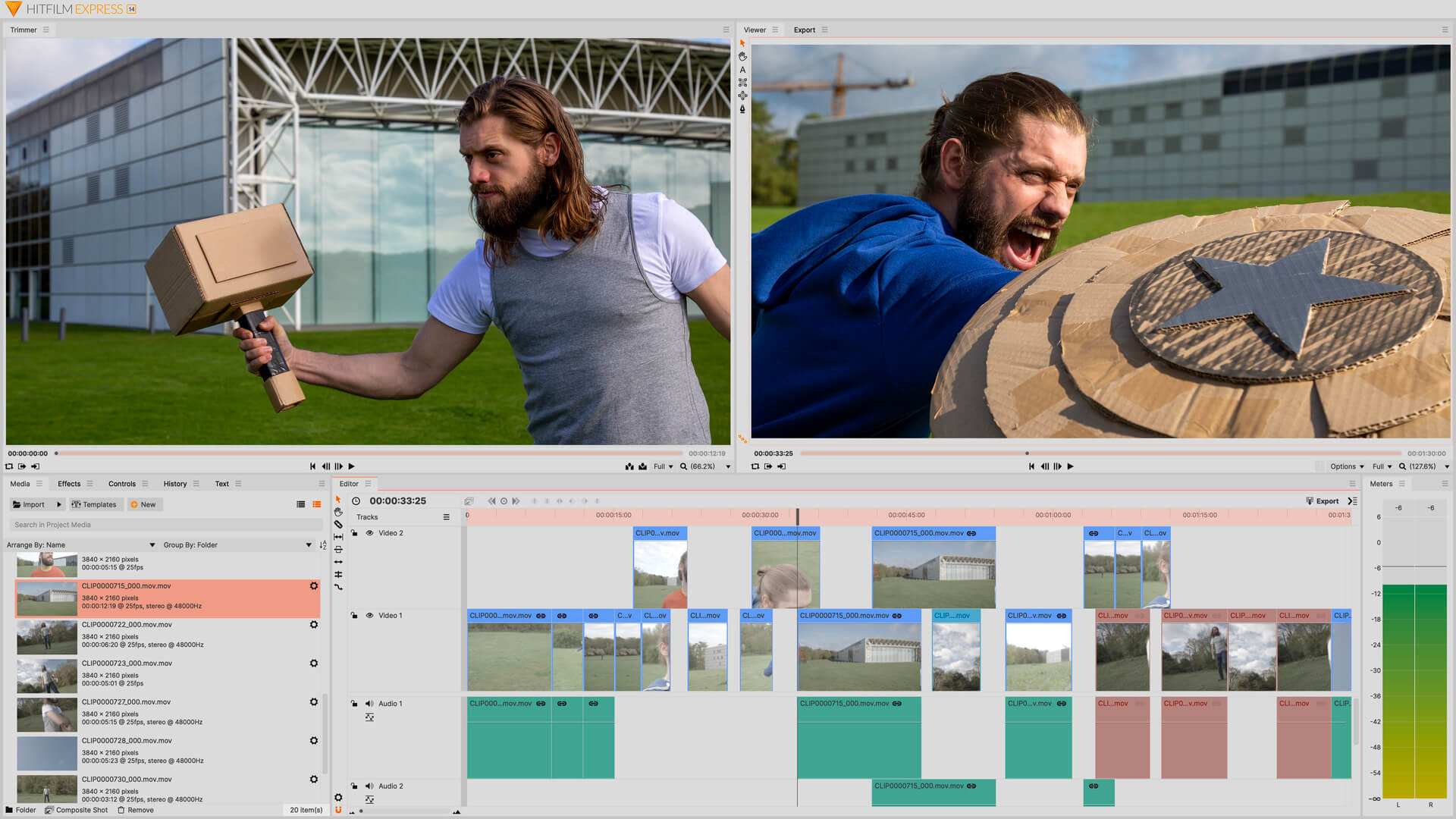 HitFilm Express תוכנה לעריכת סרטונים לקמפיינים