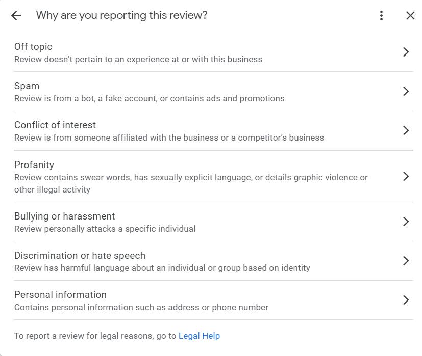 גוגל מיי ביזנס דיווח ביקורות מזוייפות