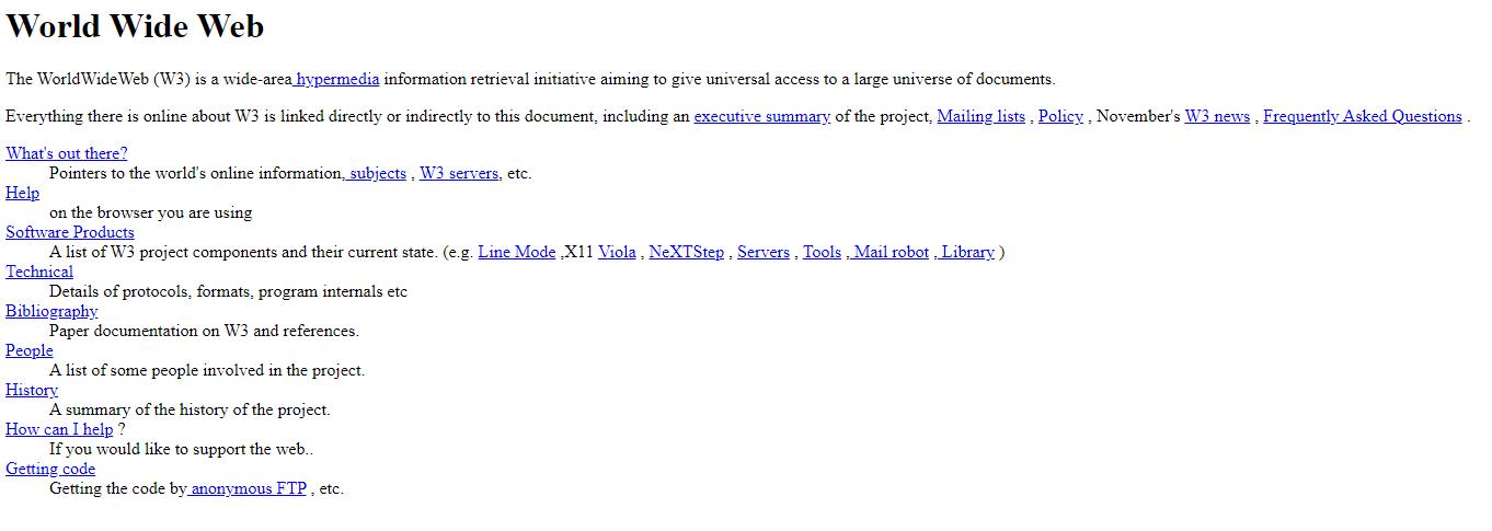 אתר האינטרנט הראשון בהיסטוריה