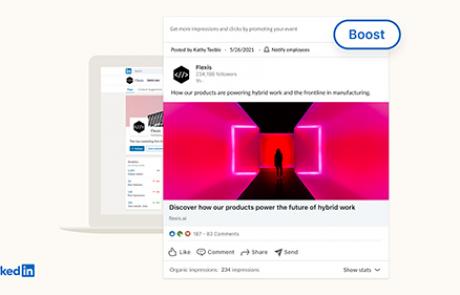 אפשרות ל-Boost Post וכלים נוספים מגיעים לדפי חברה בלינקדאין