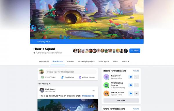 פייסבוק משיקה קבוצות מיוחדות לגיימרים
